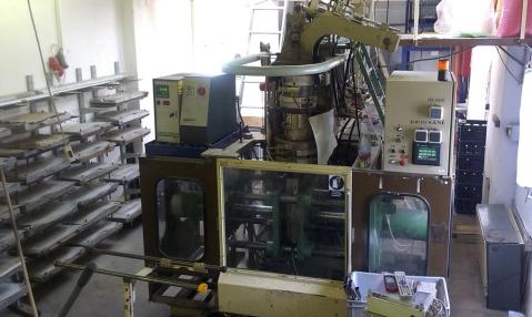 プレス棟では、HDPE製のブレードが製造されています。
